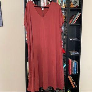 Ava & Viv V-Neck T-Shirt Dress NWT